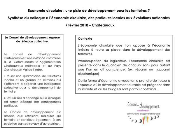 Economie circulaire Castelroussin