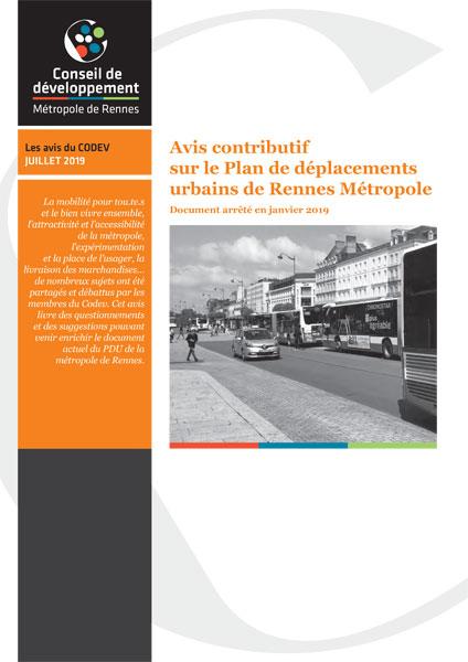 Plan déplacements urbains Rennes