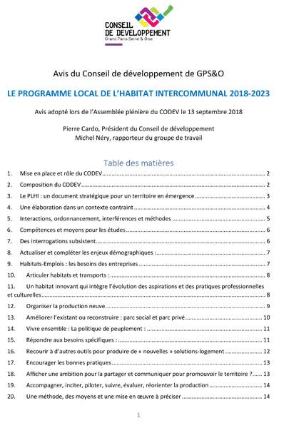 Programme habitat intercommunal GPSEO