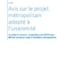 Projet Métropolitain Avis Val-de-Loire
