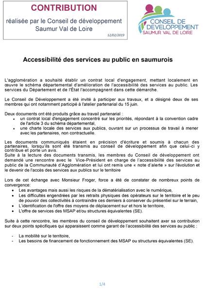 Services au public Saumur Val-de-Loire