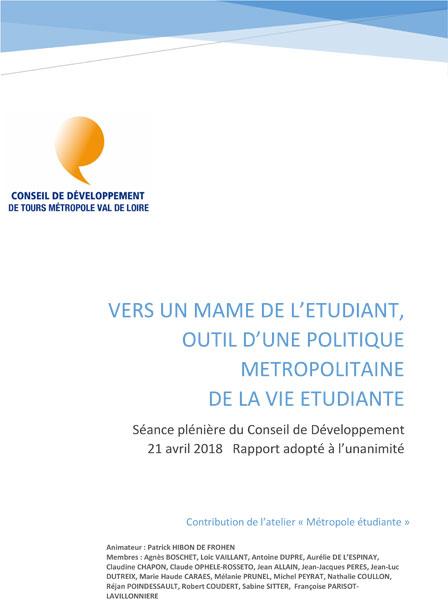 Vers un MAME de l'étudiant Val-de-Loire